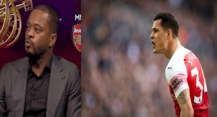 Granit Xhaka responds to Patrice Evra criticism that Arsenal are 'mentally weak'