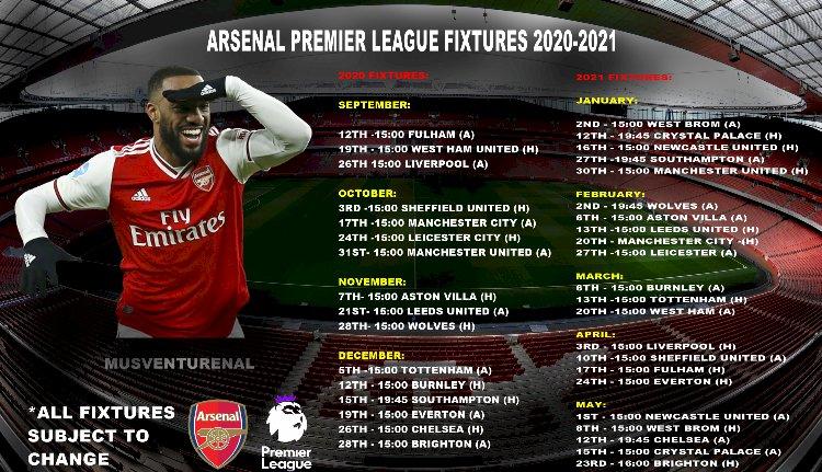 Arsenal - Fixtures (2020/21)