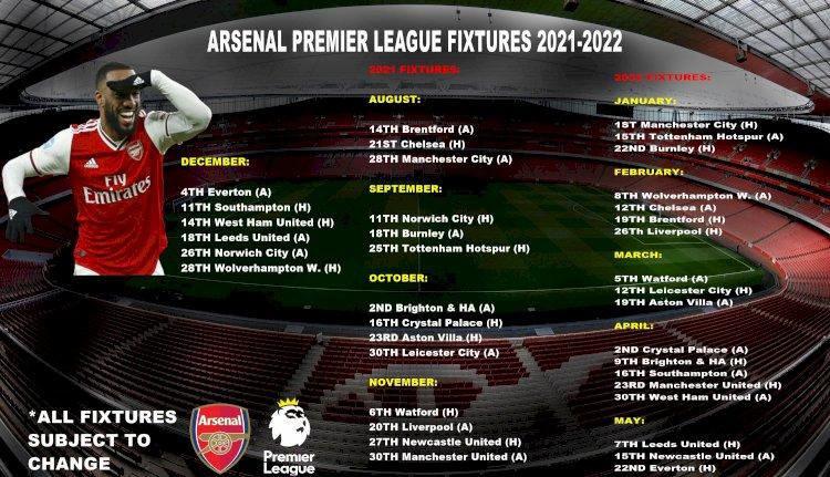 Arsenal - Fixtures (2021/22)